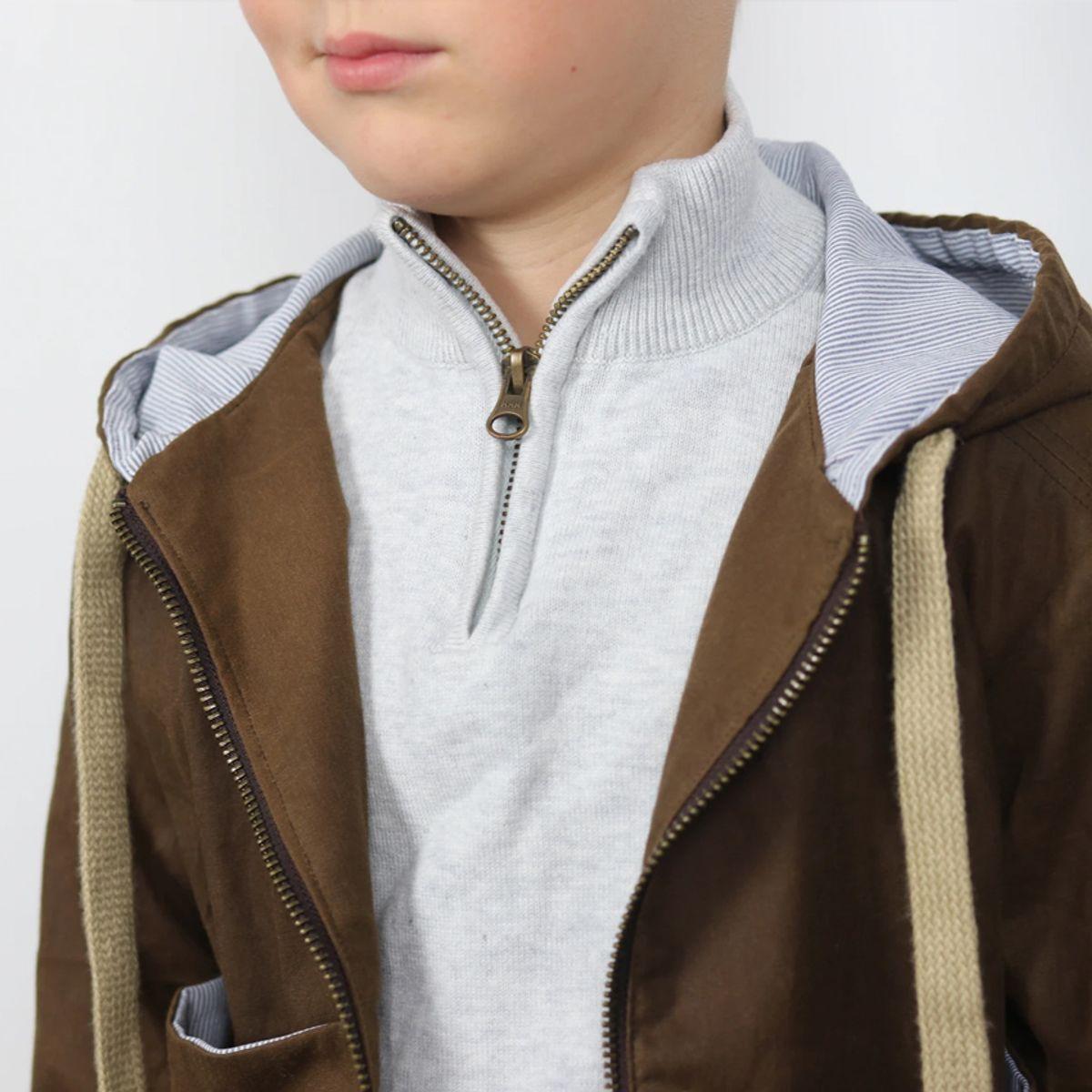 Patron de parka, manteau, veste Sam Kids - Ikatee