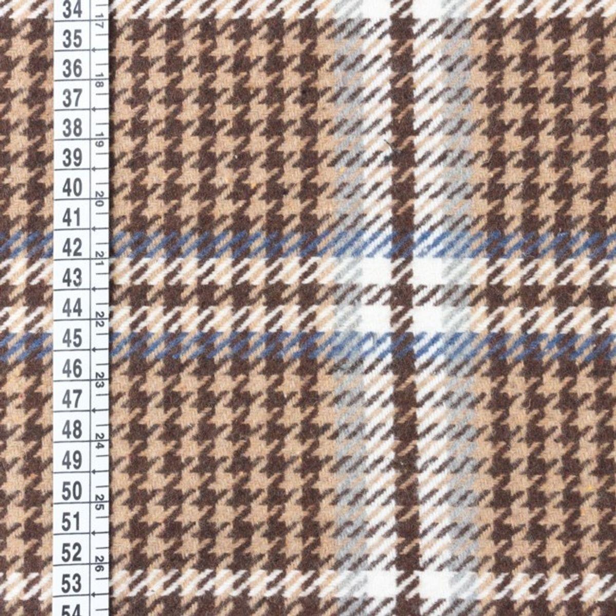 Tissu manteau chocolat