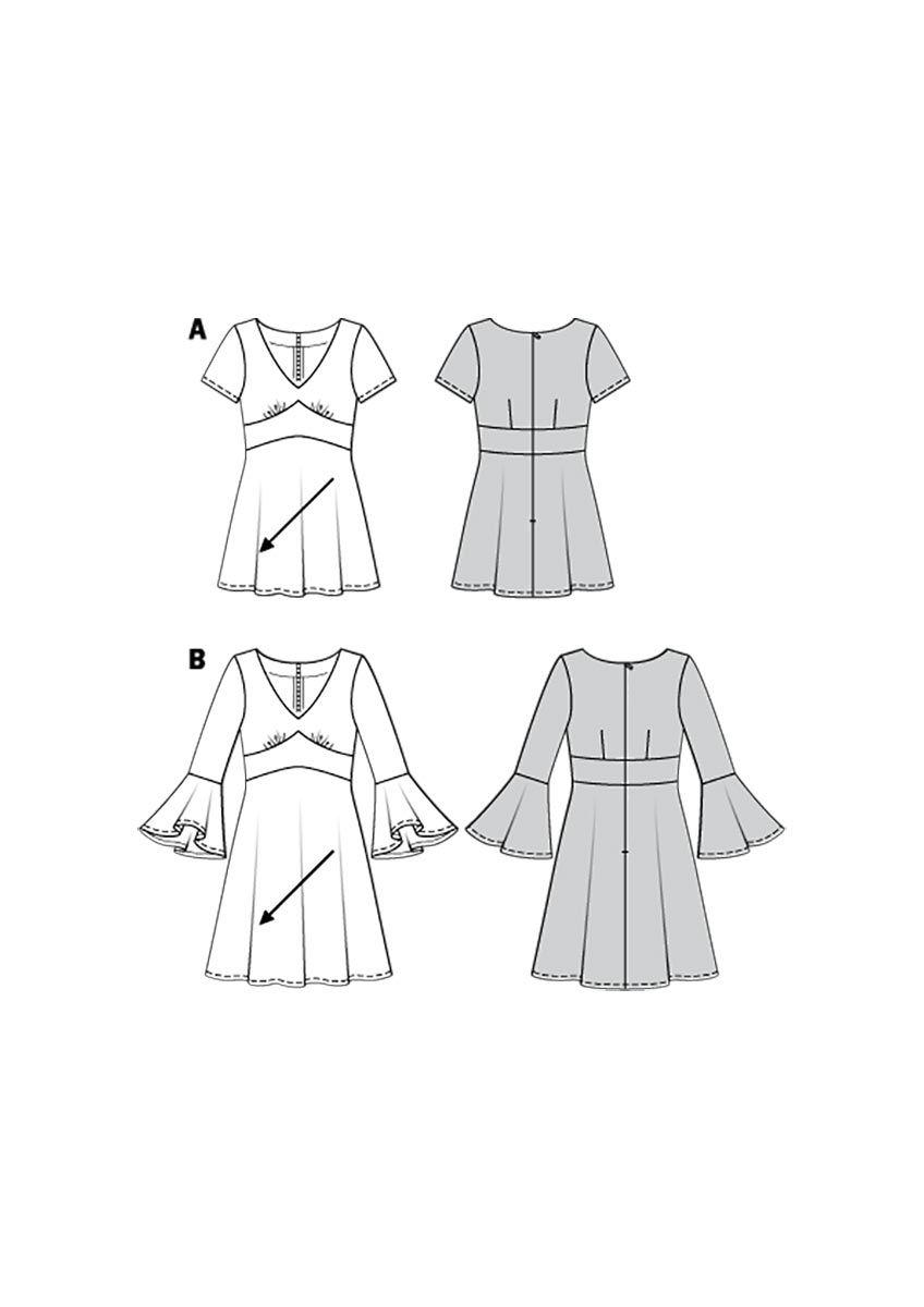 Patron de robe - Burda 6205