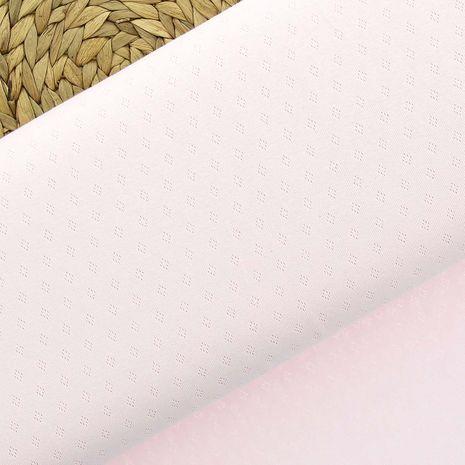 Tissu jersey maille pointelle - Rose layette