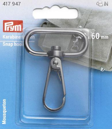 Mousqueton métal 40 x 60 mm - Bruni brillant