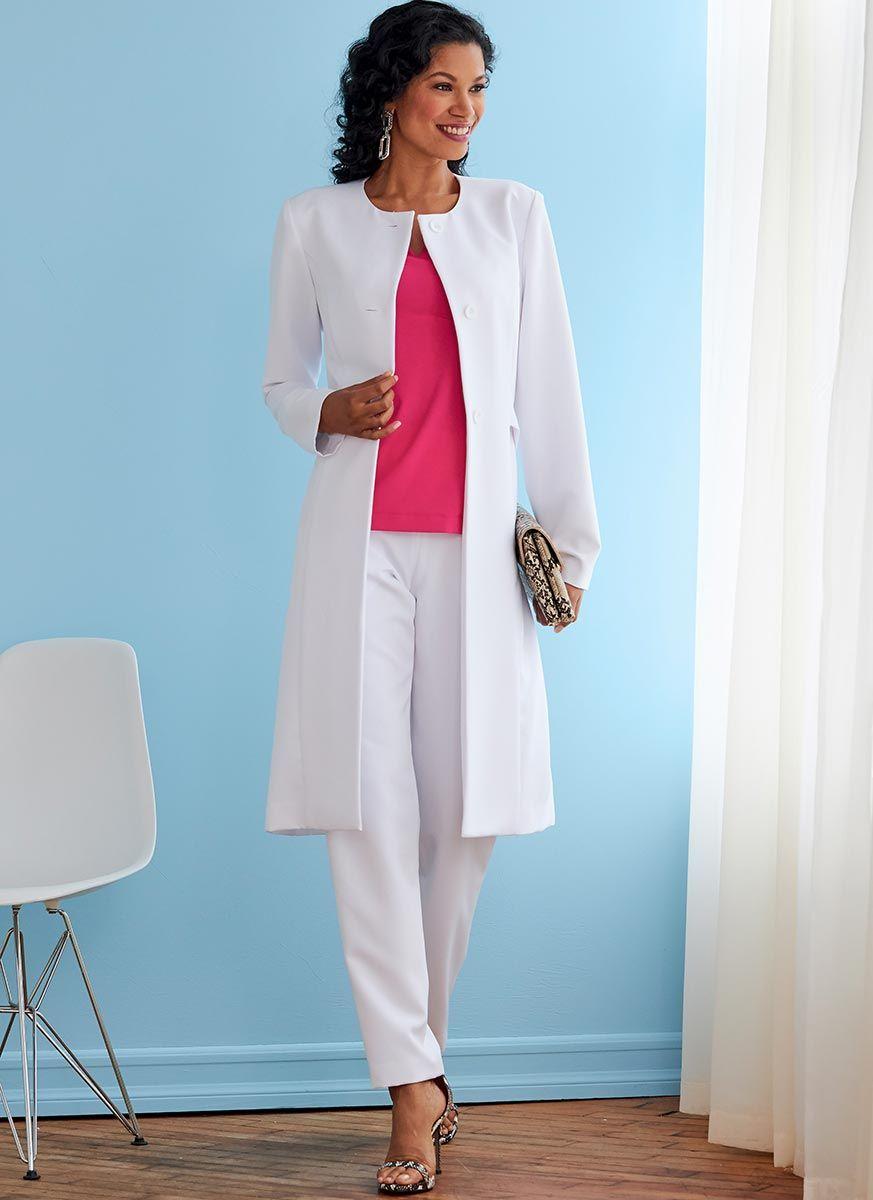 Patron de veste, manteau, haut et pantalon - Butterick 6740