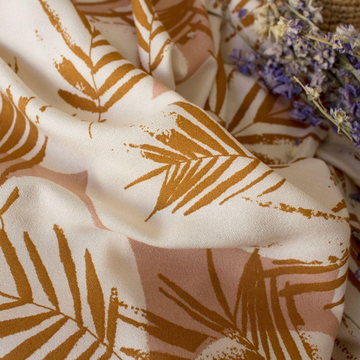 Tissu crêpe de viscose Canopy Ochre - Atelier Brunette