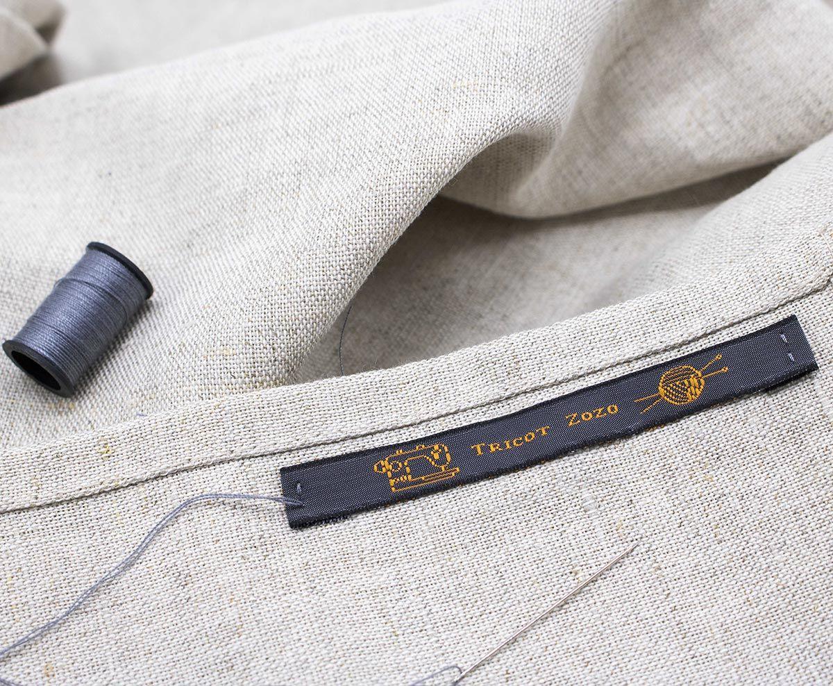 Étiquettes tissées pour vêtements Nominette à coudre
