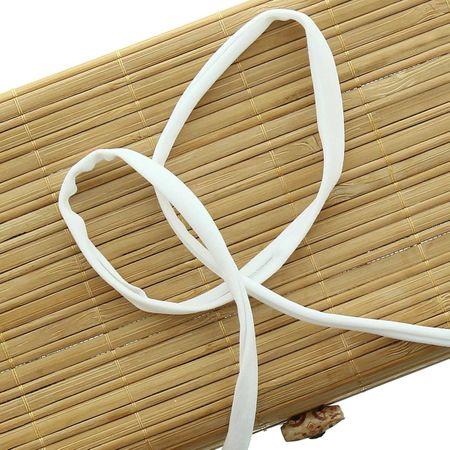 Cordon spaghetti lycra 5 mm - Blanc neige