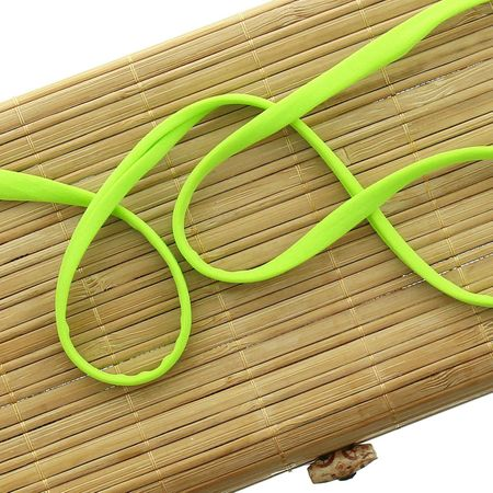 Cordon spaghetti lycra 5 mm - Vert anis