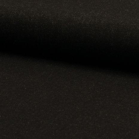 Tissu jeans classique - Noir