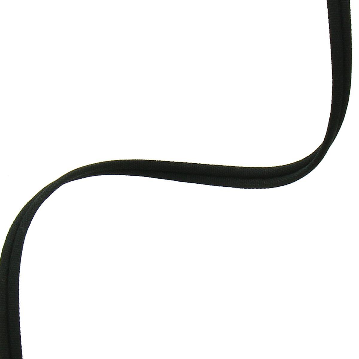 Cordon double passepoil recouvert mat - Noir