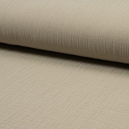 Tissu double gaze de coton - Beige