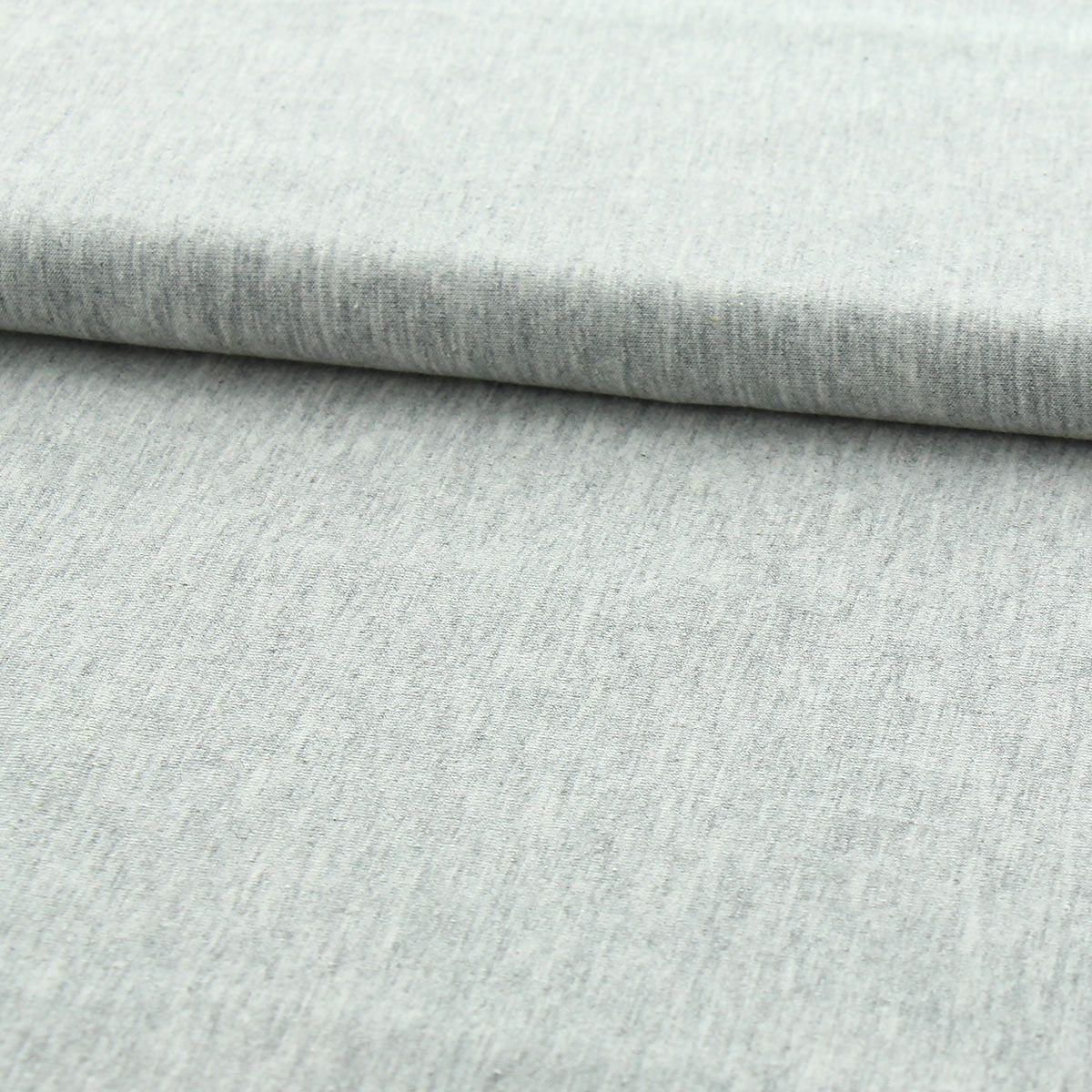 Tissu jersey coton BIO - Gris clair