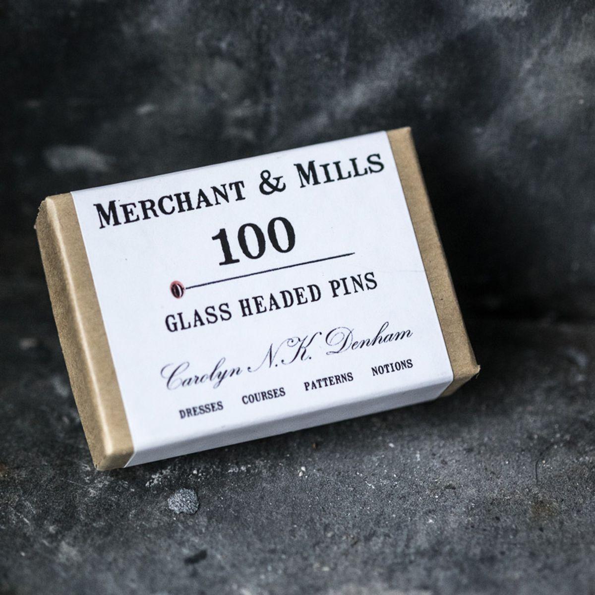 Boite de 100 épingles extra-fines tête de verre Merchant & Mills