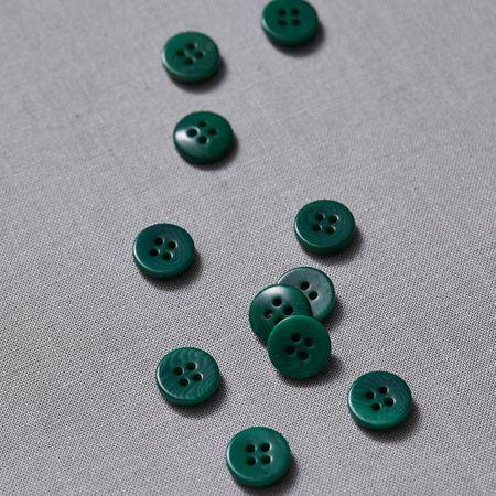 Bouton corozo plat - Vert
