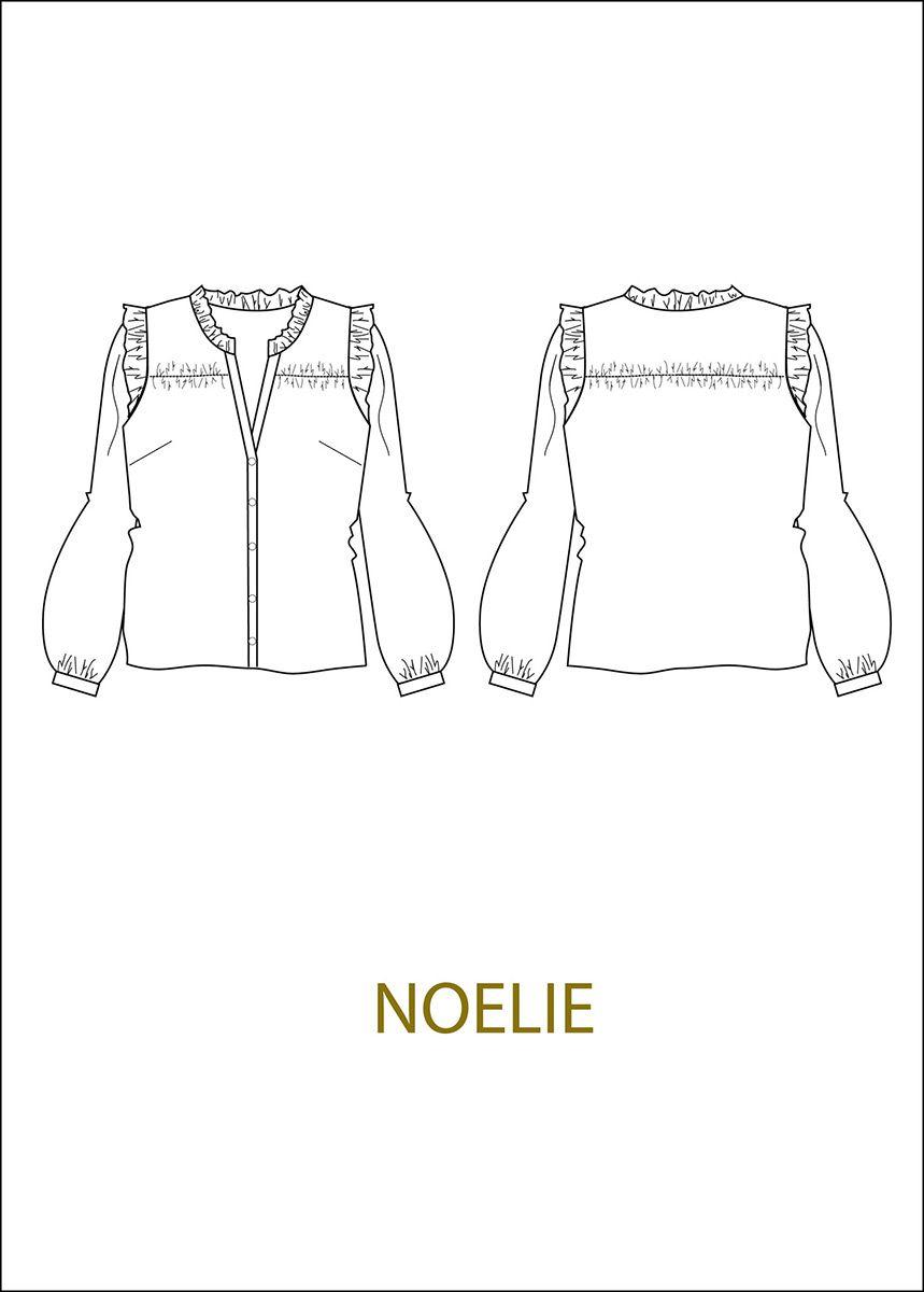 Patron de blouse Noëlie - Clématisse Pattern