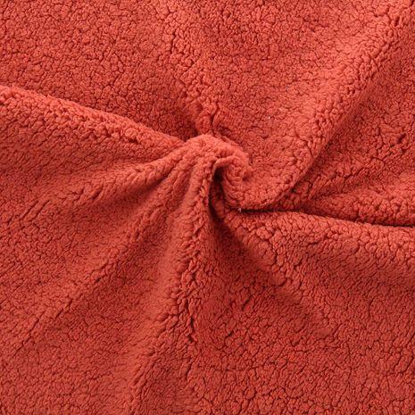 Tissu sherpa - Rouille