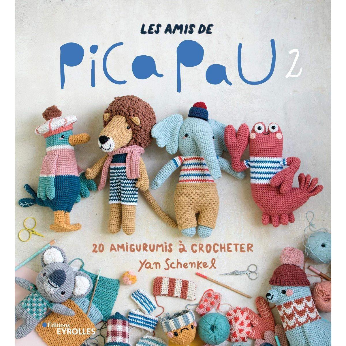 Livre les amis de Pica Pau volume 2 - 20 amigurumis à crocheter