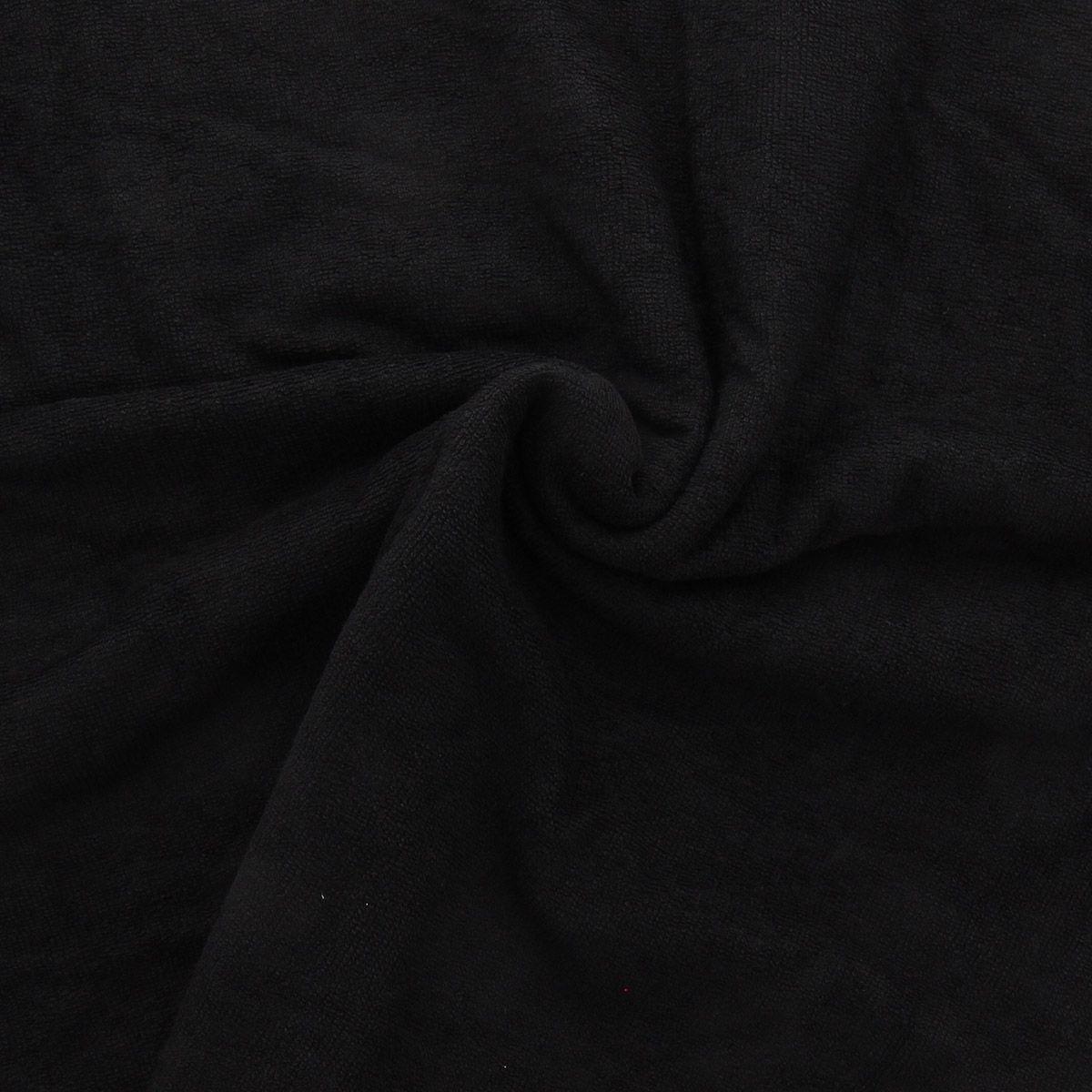 Tissu micro éponge de bambou - Noir