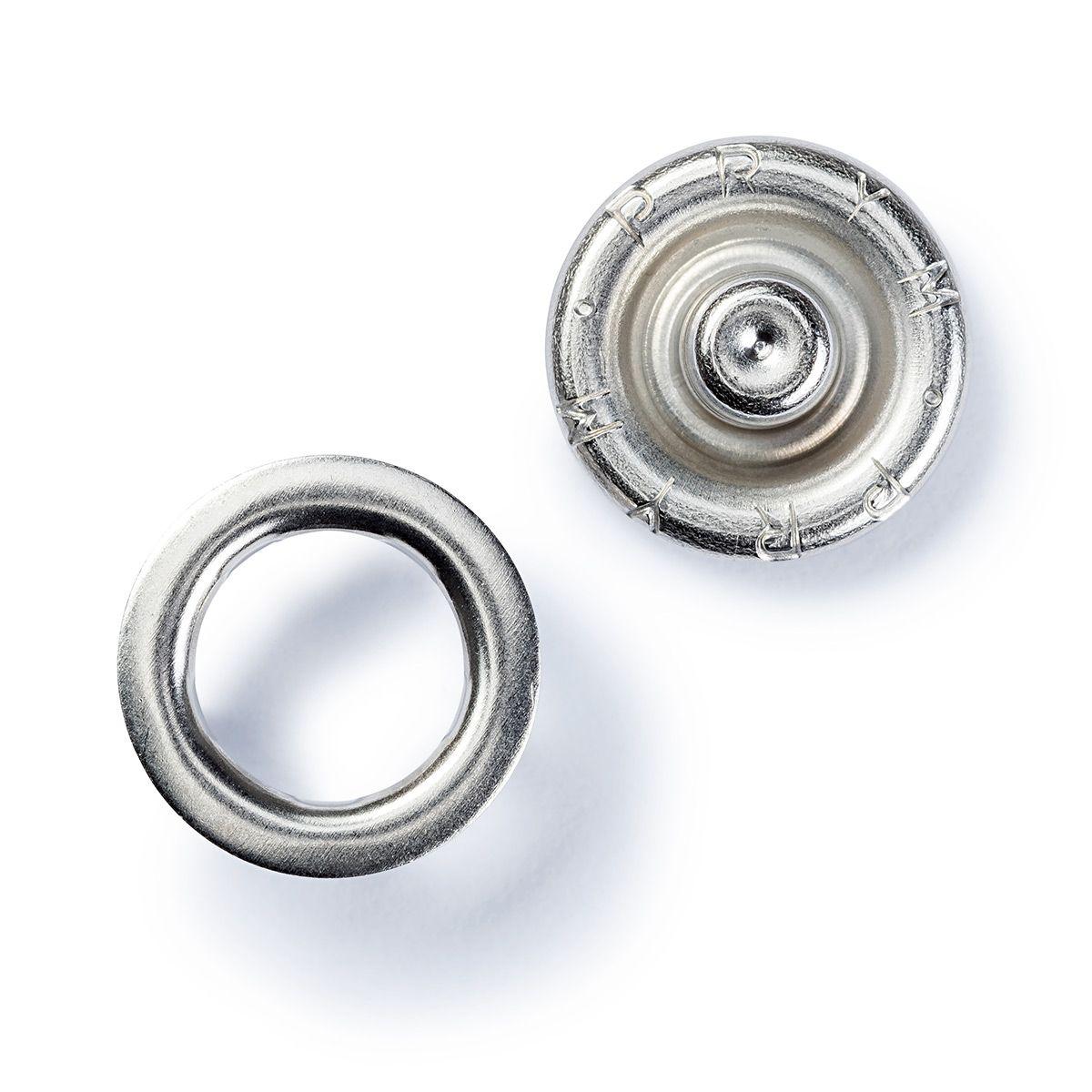 Boutons pression jersey Argent avec outil 10 mm