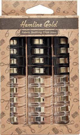 Set de 30 pinces tissus - Noir et transparent