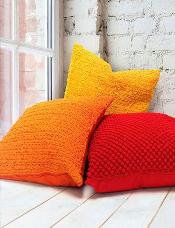 Modèle de housse de coussin rouge