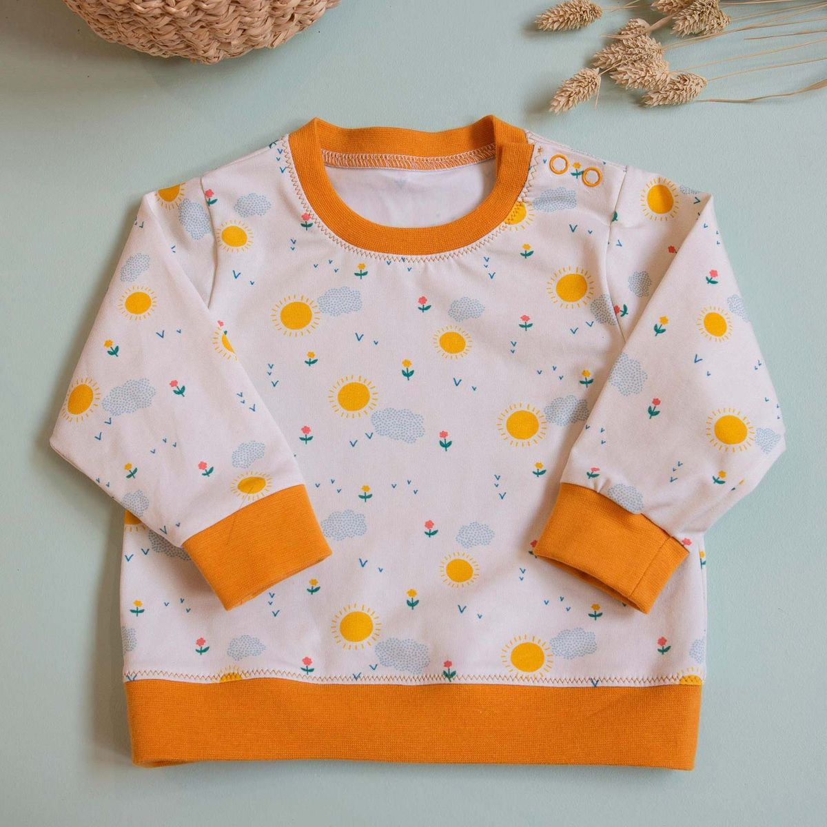 Tissu jersey de coton Sunshine - Lise Tailor