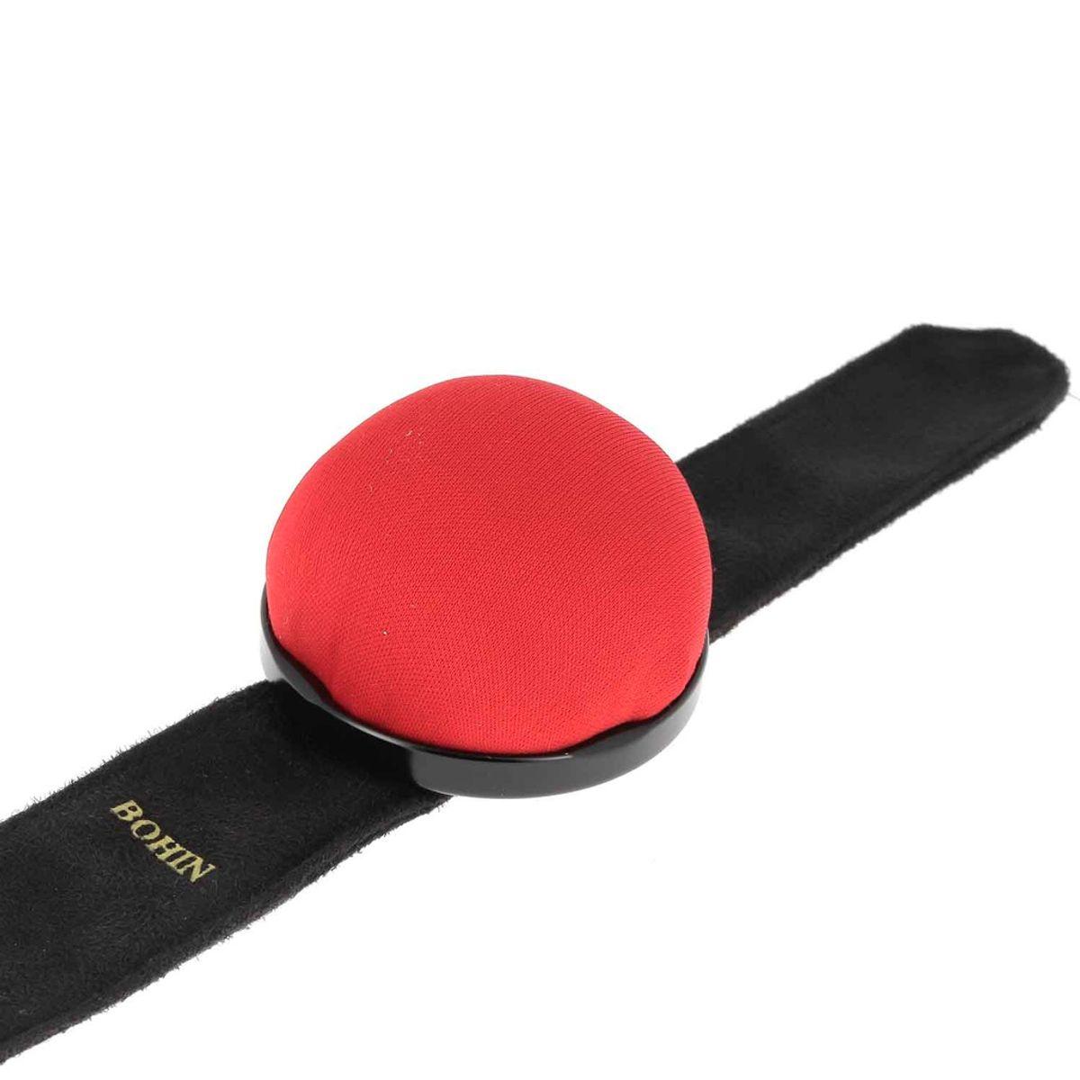 Bracelet ajustable Bohin pour épingles - Rouge