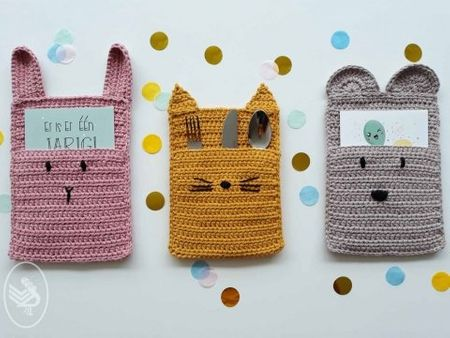 Modèle de pochettes animaux rigolos pour cartes ou surprise