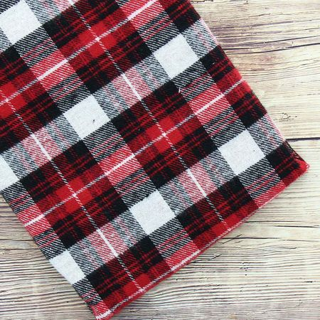 Tissus flanelle tartan écossais - Rouge et blanc