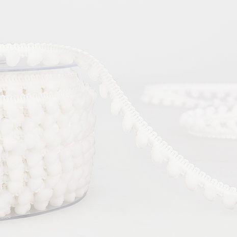 Galon mini pompons - Blanc