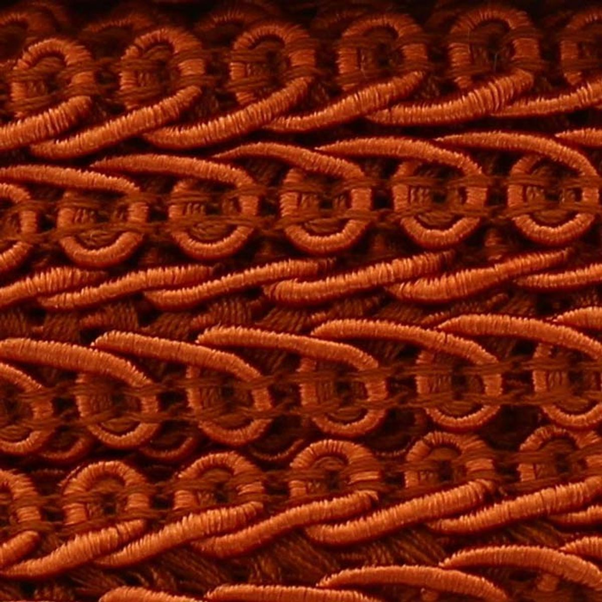 Galon épi style Chanel - Orange cuivré