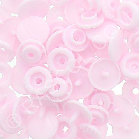 Sachet de 25 pressions résine KAM ronds - Rose pâle