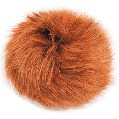 Pompon imitation fourrure 10 cm - Fauve