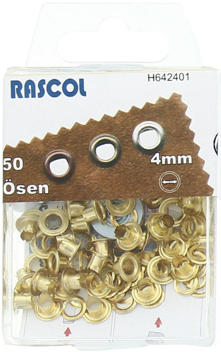 Boite 50 oeillets 4 mm avec outil de pose Rascol - Or