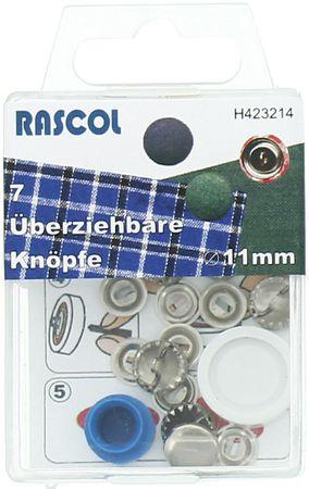 Boite de 7 boutons à recouvrir avec outil Rascol - 11 mm