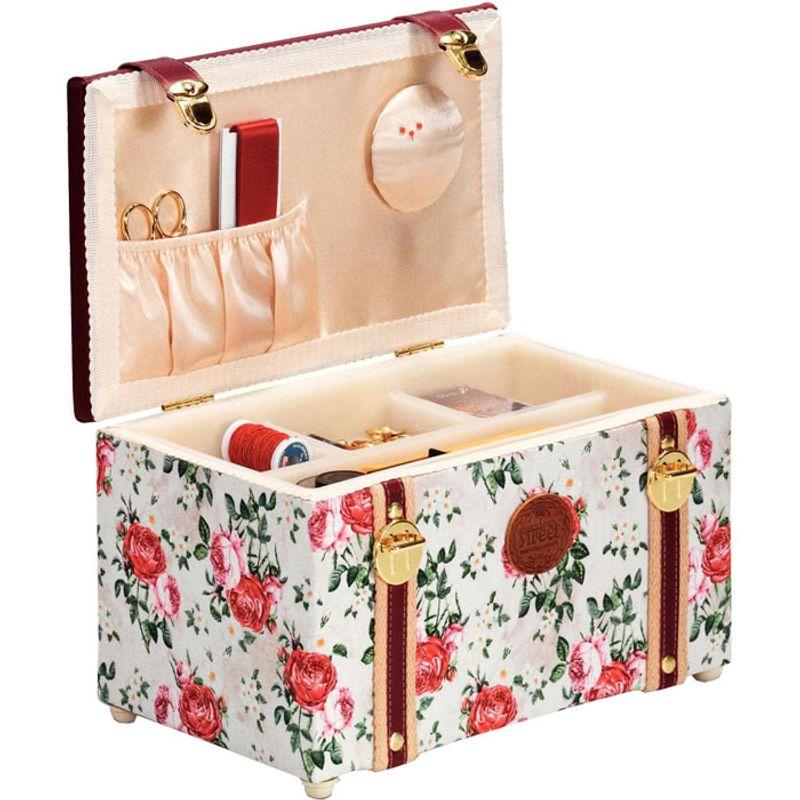 Coffret de couture roses rascol for Coffret de couture