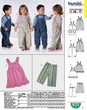 Patron de pantalon + jupe - Burda 9772