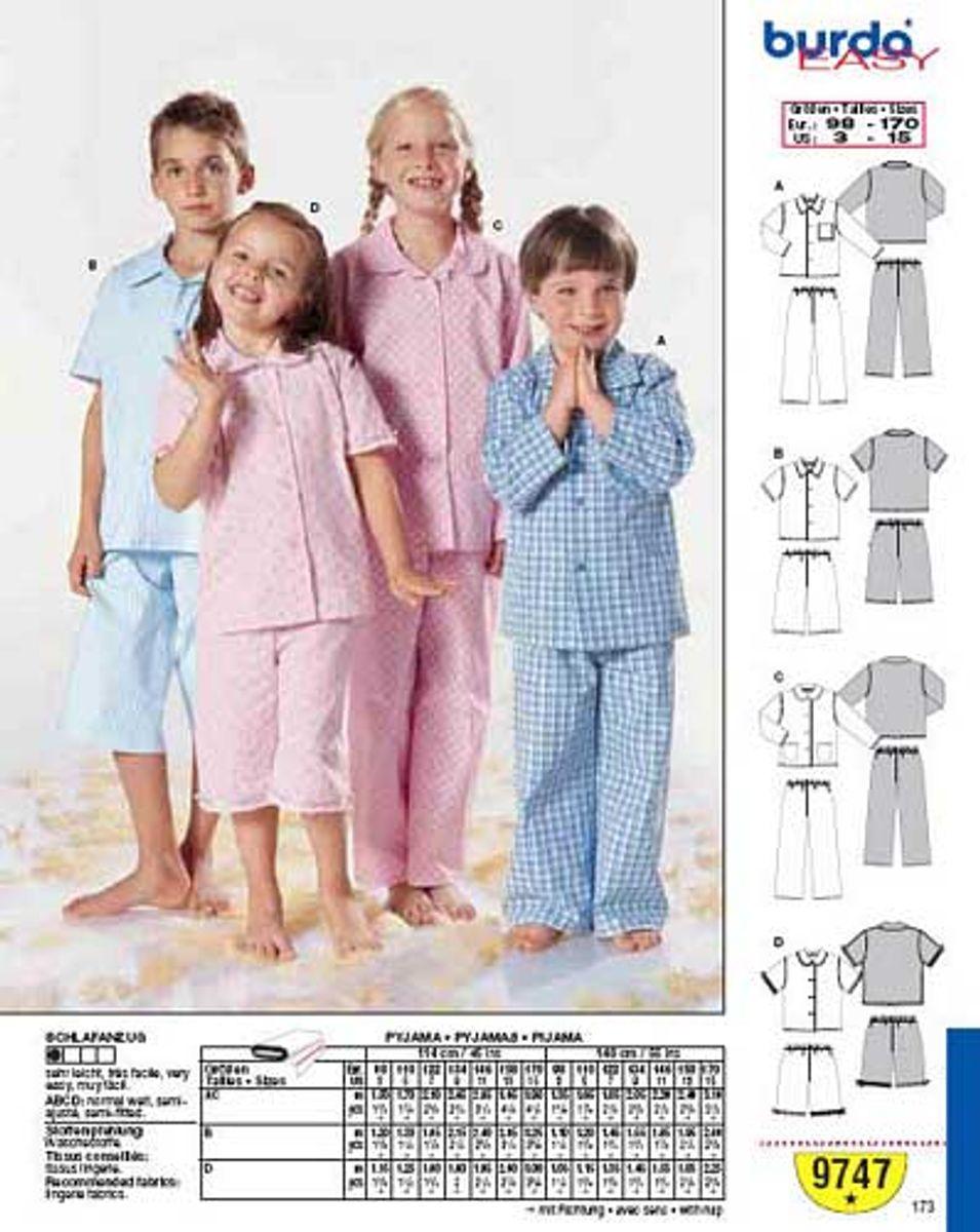 Patron de pyjamas - Burda 9747