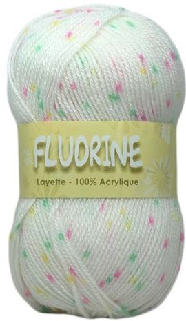 Sachet de 2 pelotes de laine Fluorine