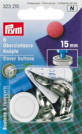 Boite 6 boutons à recouvrir avec outil 15 mm