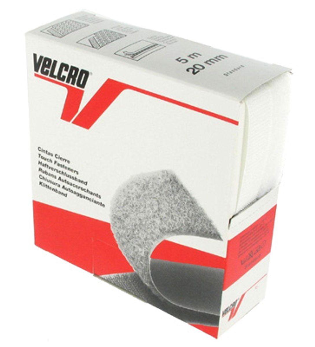 VELCRO® Brand à coudre blanc 20 mm de large boite de 5 mètres
