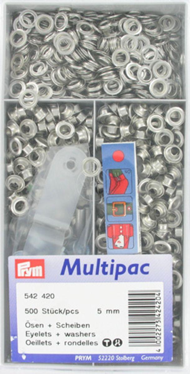 Multipac de 500 oeillets 5mm - Argent