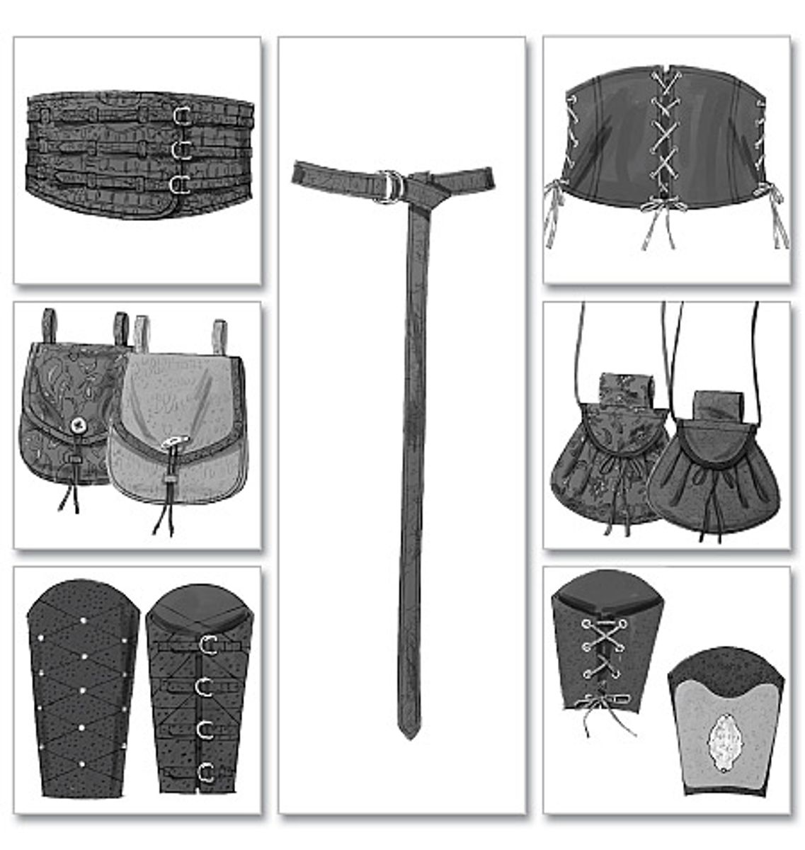 Patron d'accessoires historiques - Butterick 5371