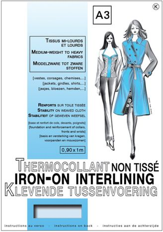 Entoilage non tissé thermocollant - Tissus mi-lourds & lourds