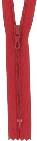Fermeture éclair nylon - Rouge vermillon