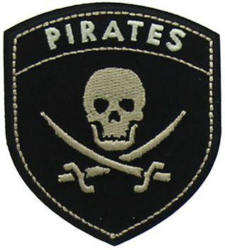 Motif blason pirates noir et beige