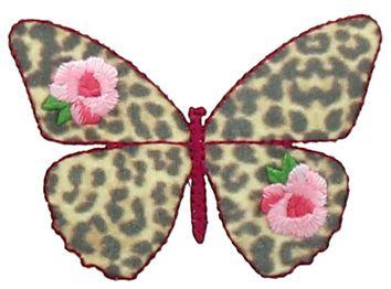 Motif papillon mode léopard