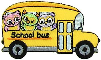 Motif hibou school bus