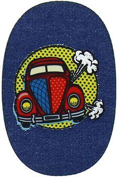 Motif voiture pop art ovale