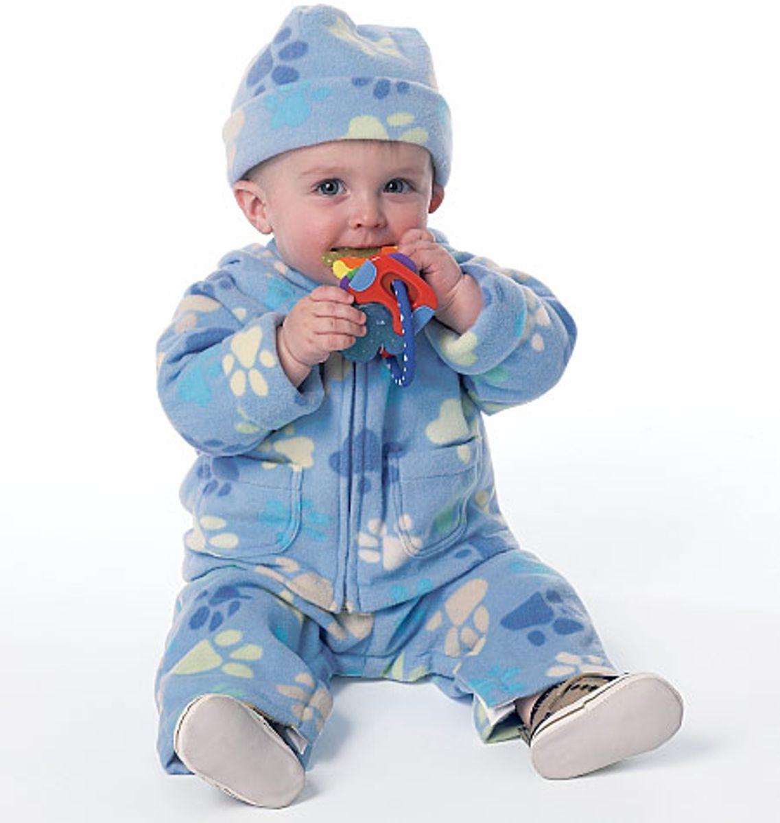 Patron de veste, salopette, pantalon, nid d´ange et chapeau - Butterick 6238
