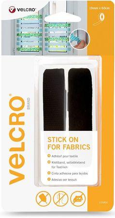 VELCRO® Brand Ruban adhésif pour textile 19mmx 60cm Noir