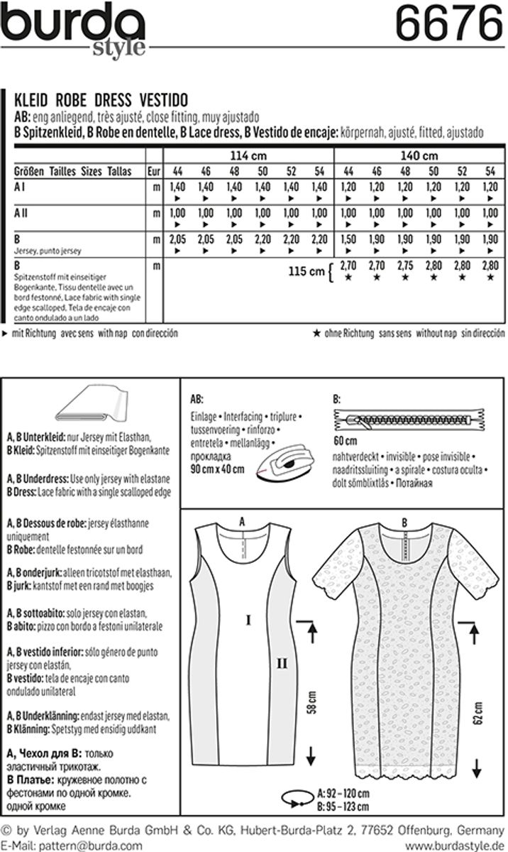 Patron de robe - Burda 6676